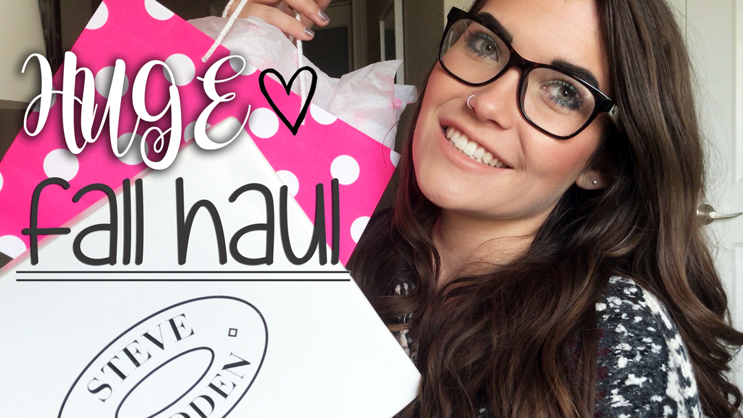 HUGE Fall Haul! ♡ B&BW, Ulta, PINK, elf, H&M, DSW & MORE! ♡