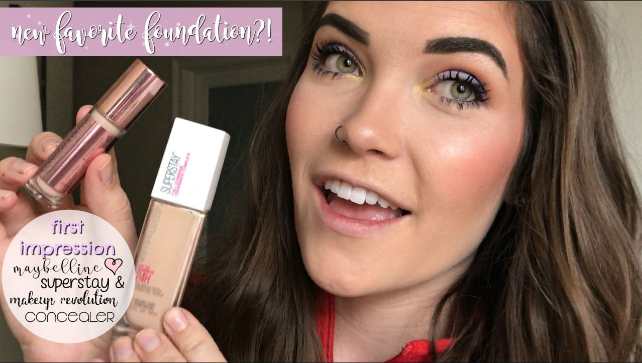 First Impression: Maybelline SuperStay Foundation & Makeup Revolution Concealer