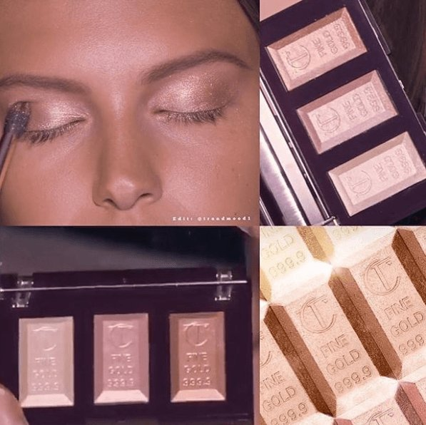 Charlotte Tilsbury: Bar of Gold Highlighter Palette Trio